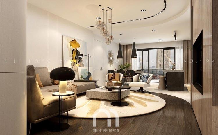 Phong cách thiết kế nội thất hiện đại. Liên hệ thiết kế nội thất: 0967490194